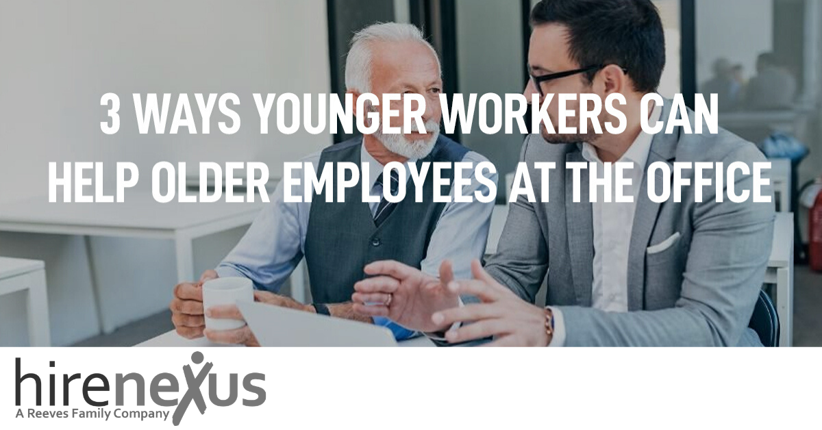 How Younger Workers Can Help Older Employees